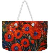 Red Flowers In The Night Weekender Tote Bag