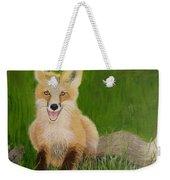 Red Fox 2 Weekender Tote Bag