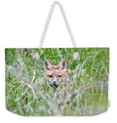 Red Fox Baby Hiding Weekender Tote Bag