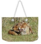 Red Fox Cub Love Weekender Tote Bag