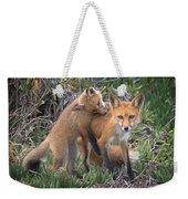 Red Fox Mama's Love Bite Weekender Tote Bag