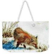 Red Fox Painted Series Weekender Tote Bag