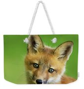 Red Fox Pup Weekender Tote Bag