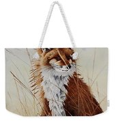 Red Fox Waiting On Breakfast Weekender Tote Bag