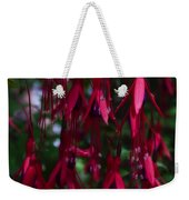 Red Fuchsia Weekender Tote Bag