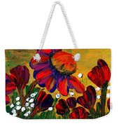 Red Garden Weekender Tote Bag