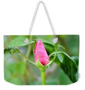 Red Garden Rose Bud Weekender Tote Bag