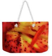 Red Gazer Lily Weekender Tote Bag