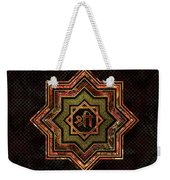 Red Gemstone And Gold  Star Of Lakshmi -  And Sri Weekender Tote Bag