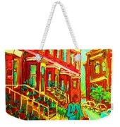 Red Geraniums Weekender Tote Bag