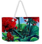 Red Geraniums Weekender Tote Bag