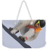 Red Gerard Snowboarding Gold Weekender Tote Bag