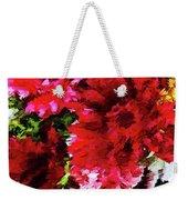 Red Gerbera Daisy Abstract Weekender Tote Bag
