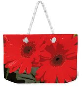 Red Gerberas Weekender Tote Bag