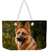 Red German Shepherd Dog Weekender Tote Bag