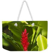 Red Ginger Flower Weekender Tote Bag
