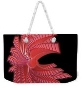 Red Glass Abstract Weekender Tote Bag