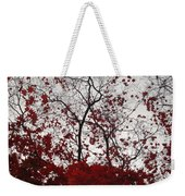 Red Glitter Weekender Tote Bag