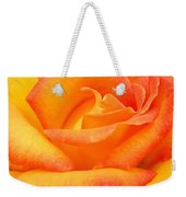 Red Gold Rose Weekender Tote Bag