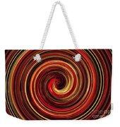Have A Closer Look. Red-golden Spiral Art Weekender Tote Bag