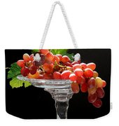 Red Grapes On Glass Dish Weekender Tote Bag