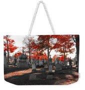 Red Fall Graveyard Weekender Tote Bag
