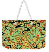 Red Green Yellow And Black Abstract Weekender Tote Bag