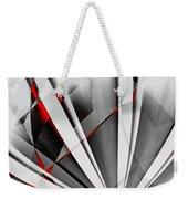 Red-grey Abstractum Weekender Tote Bag