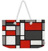 Red Grey Black Mondrian Inspired Weekender Tote Bag