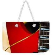 Red Guitar Weekender Tote Bag by Hakon Soreide
