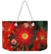 Red Gum Flower Macro Weekender Tote Bag