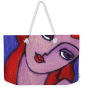 Red Hair Girl Weekender Tote Bag