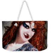 Red Hair, Gothic Mood. Model Sofia Metal Queen Weekender Tote Bag