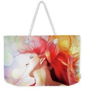 Red Hair With Bubbles Weekender Tote Bag