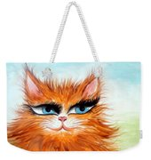 Red-haired Sofia The Cat Weekender Tote Bag