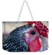Red Hat Chicken Weekender Tote Bag