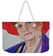Red-hat Lady Weekender Tote Bag