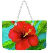 Red Hawaii Hibiscus #238  Weekender Tote Bag