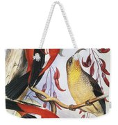 Red Hawaiian Honeycreeper Weekender Tote Bag
