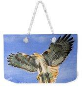 Red Hawk, 11x14, Oil, '07 Weekender Tote Bag