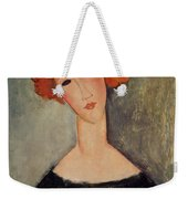 Red Head Weekender Tote Bag by Amedeo Modigliani
