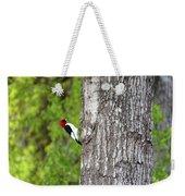 Red Head Bird Weekender Tote Bag