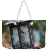 Red Head Wood Peckers On Feeder Weekender Tote Bag