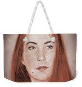 Red Headed Beauty Vdersion II Weekender Tote Bag