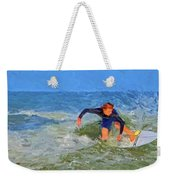 Red Headed Surfer Weekender Tote Bag