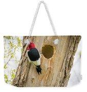 Red-headed Woodpecker At Home Weekender Tote Bag