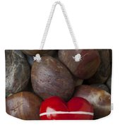 Red Heart Among Stones Weekender Tote Bag