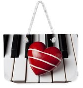 Red Heart With Stripes Weekender Tote Bag