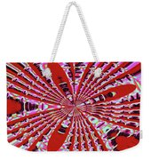 Red Heavy Screen Abstract Weekender Tote Bag