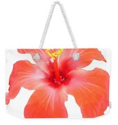 Red Hibiscus Vector Isolated Weekender Tote Bag